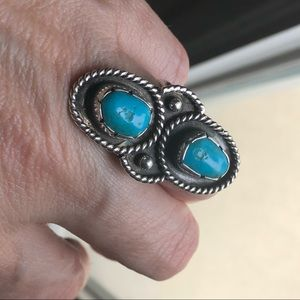 Vintage Native American turquoise sterling ring